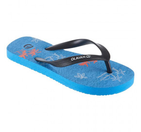 ae79abaea ... TO100 PRINT Junior B flip-flops BLUE EU 27-28